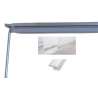 Bastone binario a pannelli estensibile grigio satinato