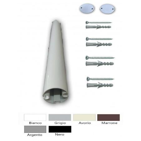 Bastone mm 20 per tenda finitura nero a strappo varie misure