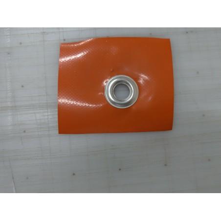 Fettuccia riloga per tenda H 6,5 cm 2 tasche 2 corde